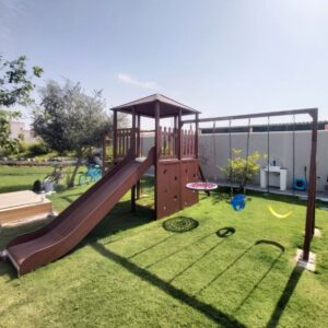 Climbing Frame with Triple Swing Set & Monkey Bars