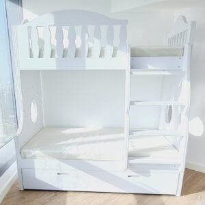 Bunk Bed with Trundle Bed Underneath