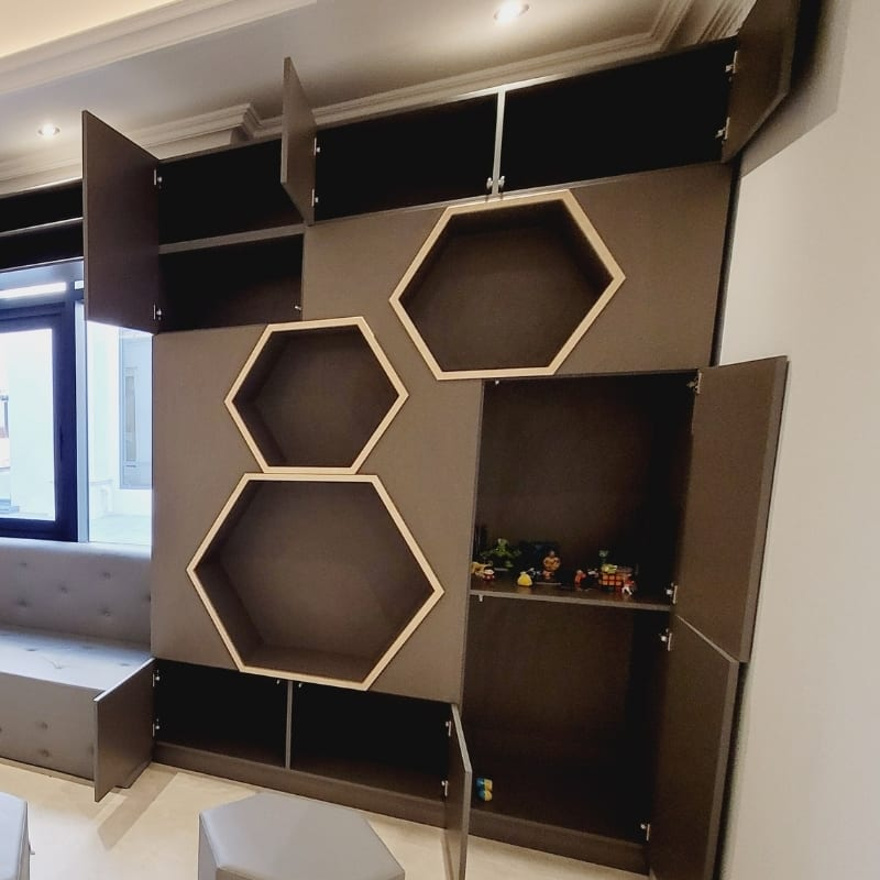 Wall Cupboard with Seating