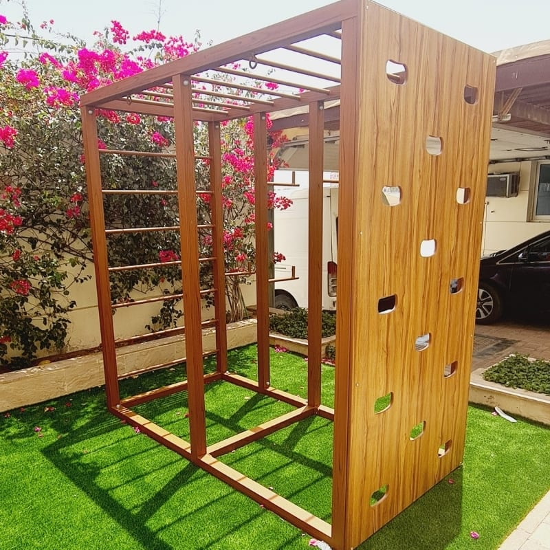 Free Standing Climbing Wall with Monkey Bars