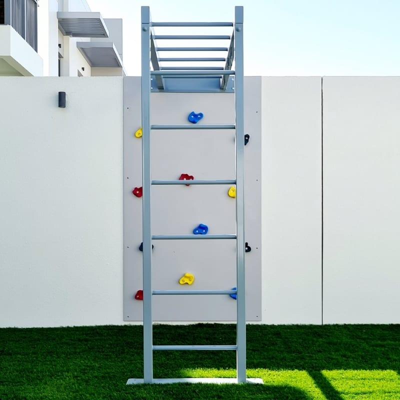 Climbing Wall with Monkey Bars - Metal