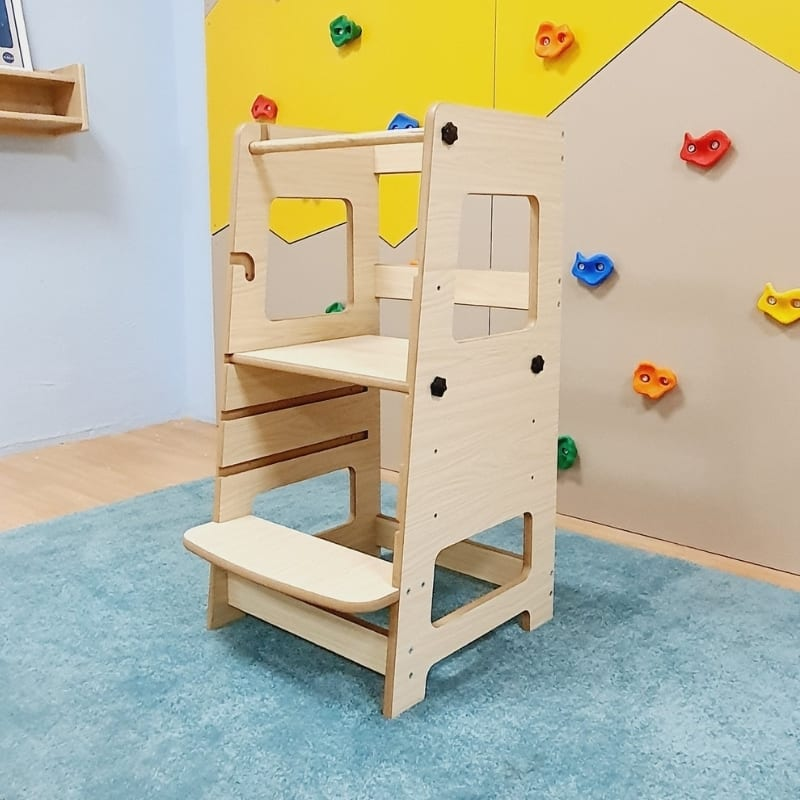 Adjustable Learning Tower with Step
