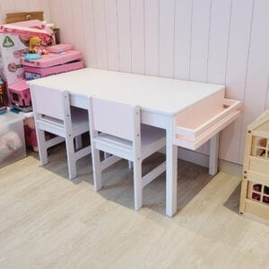 Rectangle Table with Side Shelf
