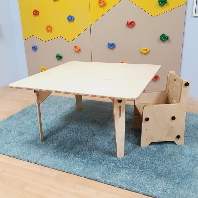 Adjustable Montessori Square Table & Chair Set