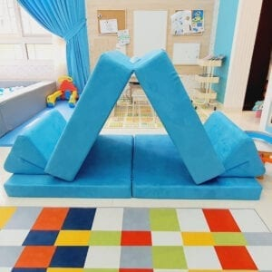 Play Sofa in Turquoise Suede