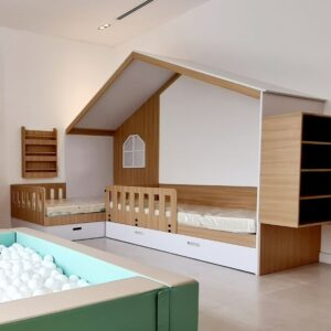 TWIN HOUSE BED WITH TRUNDLE