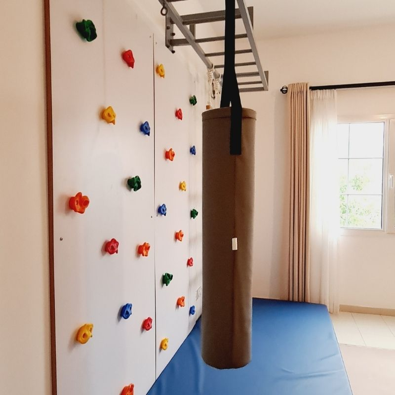 SIngle Climbing Wall with Monkey Bars & Rope Ladder 2