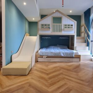 Treehouse Play Platform with one Bed