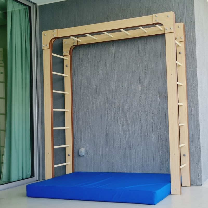 Monkey Bars With Safety Mat