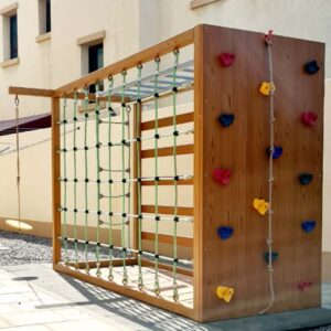 Free Standing Climbing Wall and Monkey Bars-2