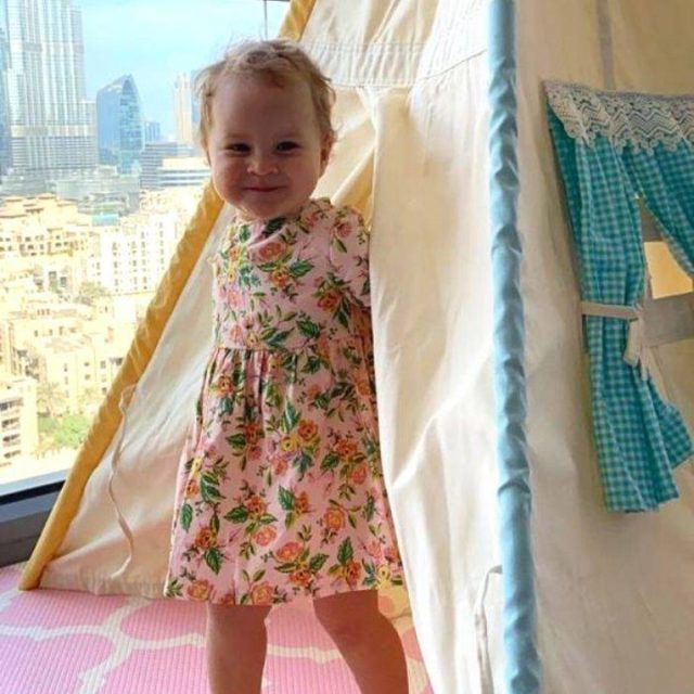 This little one, and her brother, absolutely love their Tepee! #moonkidsinaction